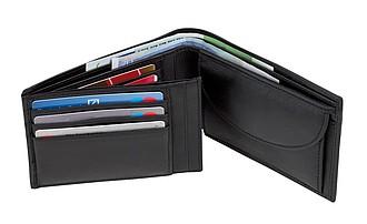 Peněženka s mnoha přihrádkami na karty