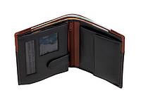 Peněženka s přihrádkou na bankovky na zip, hnědo černá