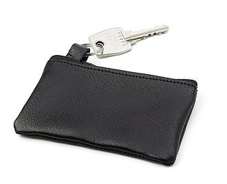 JELA pouzdro na klíče se zapínáním na zip a kovovým kroužkem.