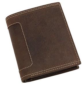 Vysoká kožená peněženka
