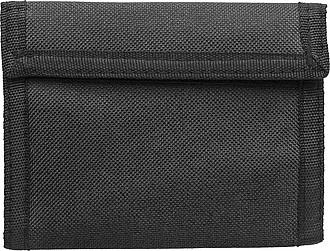 Peněženka na suchý zip, černá