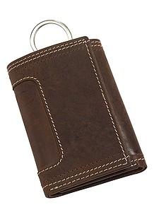 Kožená peněženka s 6 háčky na klíče