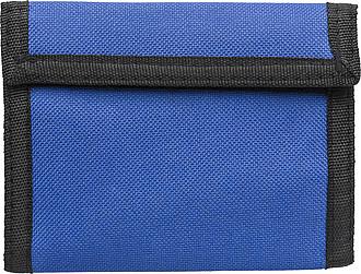 Peněženka na suchý zip, modrá – reklamní peněženka s potiskem