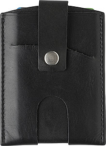 Kožená peněženka na platební karty s RFID ochranou – reklamní peněženka s potiskem