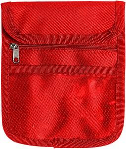 TOTI Taška na krk, na doklady či drobné předměty, červená