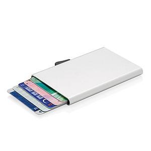 RFID hliníkové pouzdro na karty C-Secure, stříbrná