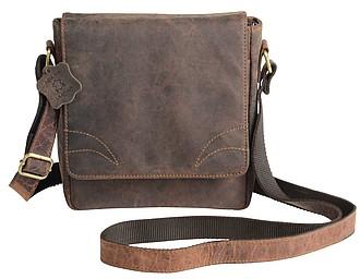PORUN Kožená taška přes rameno – reklamní peněženka s potiskem
