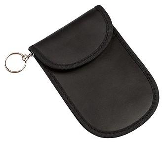 NAGAON Obal na klíče od auta s ochranou RFID, černá – reklamní peněženka s potiskem