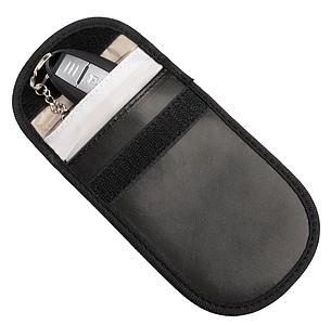Obal na klíče od auta s ochranou RFID, černá
