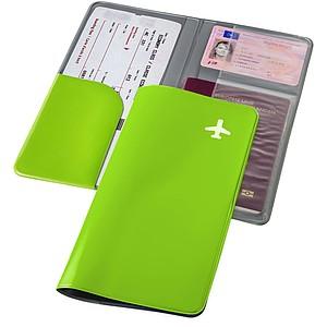 Cestovní peněženka z PVC, světle zelená