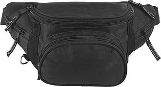 BARBORKA Ledvinka s 5ti kapsami na zip, černá – reklamní peněženka s potiskem