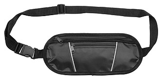 TRIKAL Polyesterová taška na opasek, černá
