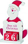 TIMY Dřevěný Santa Claus/adventní kalenfář