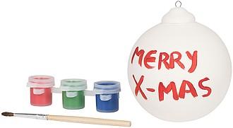 Vánoční baňka s barvičkami pro vlastní dekoraci