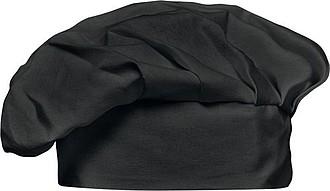 LASKIN Bavlněná kuchařská čepice, černá