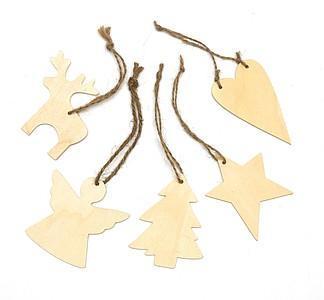 VELAS Dřevěné vánoční ozdoby - psací potřeby