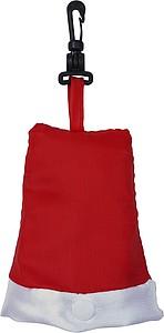 VAKU Vánoční nákupní taška skládací do tvaru vánoční čepice
