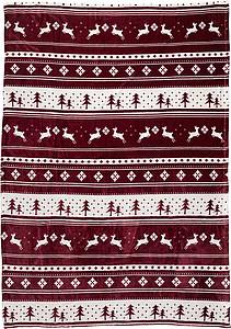 TEFANA Flanelovo fleecová deka s norským motivem