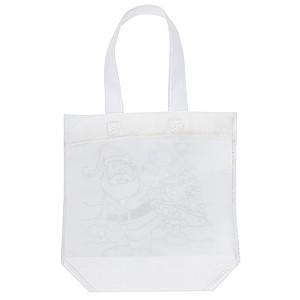 Taška s obrázkem Santy k vymalování, obsahuje 3 voskovky