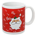 ESTORIL Vánoční hrnek s motivem Santa Clause, objem 350 ml, červená