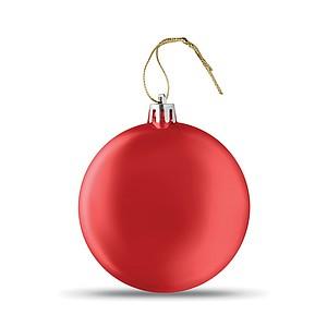 Vánoční ozdoba, kulatá, plochá, červená