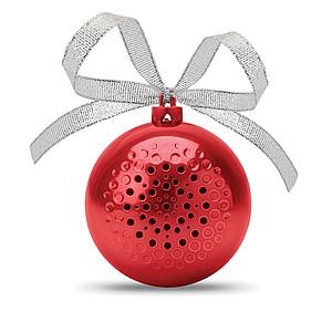 Bluetooth reproduktor jako vánoční baňka, červená