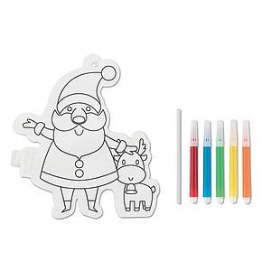 Nafukovací Santa Claus k vymalování