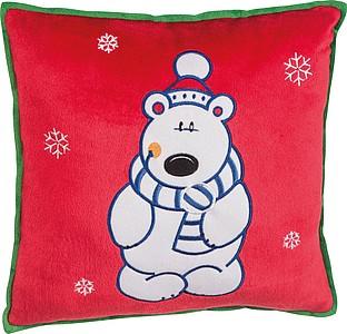ALAGO Polštářek s vánočním motivem, lední medvěd