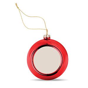 ANGELINA Lesklá vánoční baňka červená