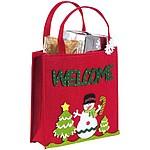 Plstěná taška s vánočním dekorem