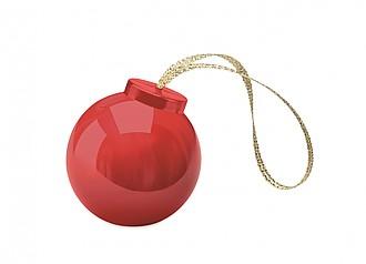 BAMBLE Balzám na rty ve tvaru vánoční baňky, červený