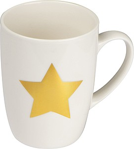Porcelánový hrnek se zlatou hvězdou, v dárkové krabičce, objem 300ml