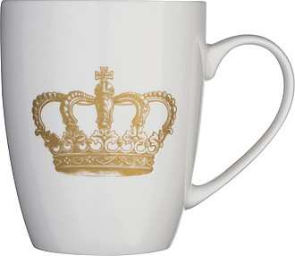 Porcelánový hrnek se zlatou korunou, v dárkové krabičce, objem 300ml