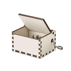 Dřevěná vánoční hrací skříňka s kličkou