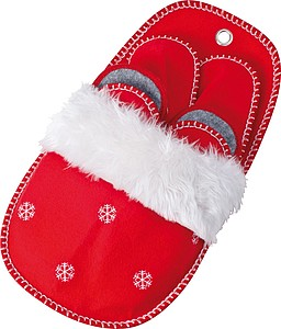 Vánoční papuče, 3páry různých velikostí v závěsné papuči