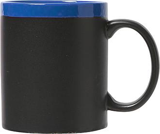 CARLIN Keramický hrnek ,na nějž lze psát křídou, modrý uvnitř - reklamní hrnky