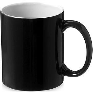 Keramický hrnek s bílým vnitřkem, objem 330 ml, černá