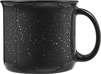 ESPINO Keramický hrnek o objemu 400ml ve vintage stylu, černá