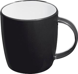 TEGATO Barevný, keramický hrnek o objemu 300 ml, černý