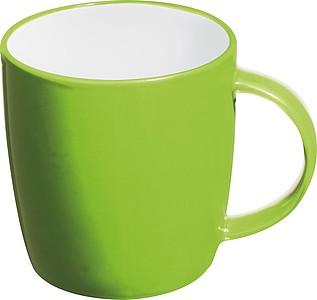 TEGATO Barevný, keramický hrnek o objemu 300 ml, světle zelený - reklamní hrnky