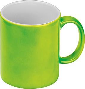 Neonově zelený keramický hrnek 300ml, vhodný pro sublimaci