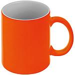 Neonově oranžový keramický hrnek 300ml, vhodný pro sublimaci