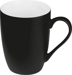 Keramický hrnek, 300ml, uvnitř bílý, z venku černý