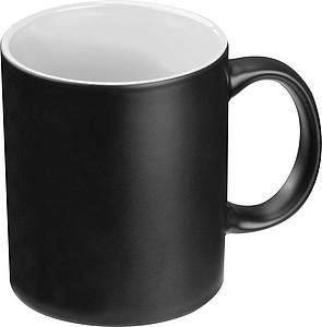 Keramický hrnek, 300ml, z venku černý, zevnitř bílý - reklamní hrnky
