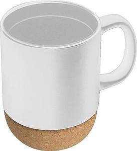Keramický šálek s korkem,bílá