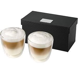 Sada 2ks skleněných dvoustěnných šálků na kávu