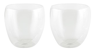 Dvě teplotě odolné sklenice, objem 220ml, transparentní