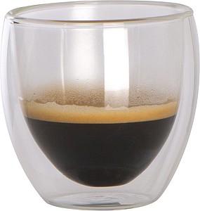 Sada dvou dvoustěnných skleniček na espresso, objem 100ml