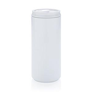 Eko obal na pití ve tvaru plechovky, bílá - reklamní hrnky