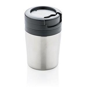 Hrnek Coffee to go, stříbrný - reklamní hrnky